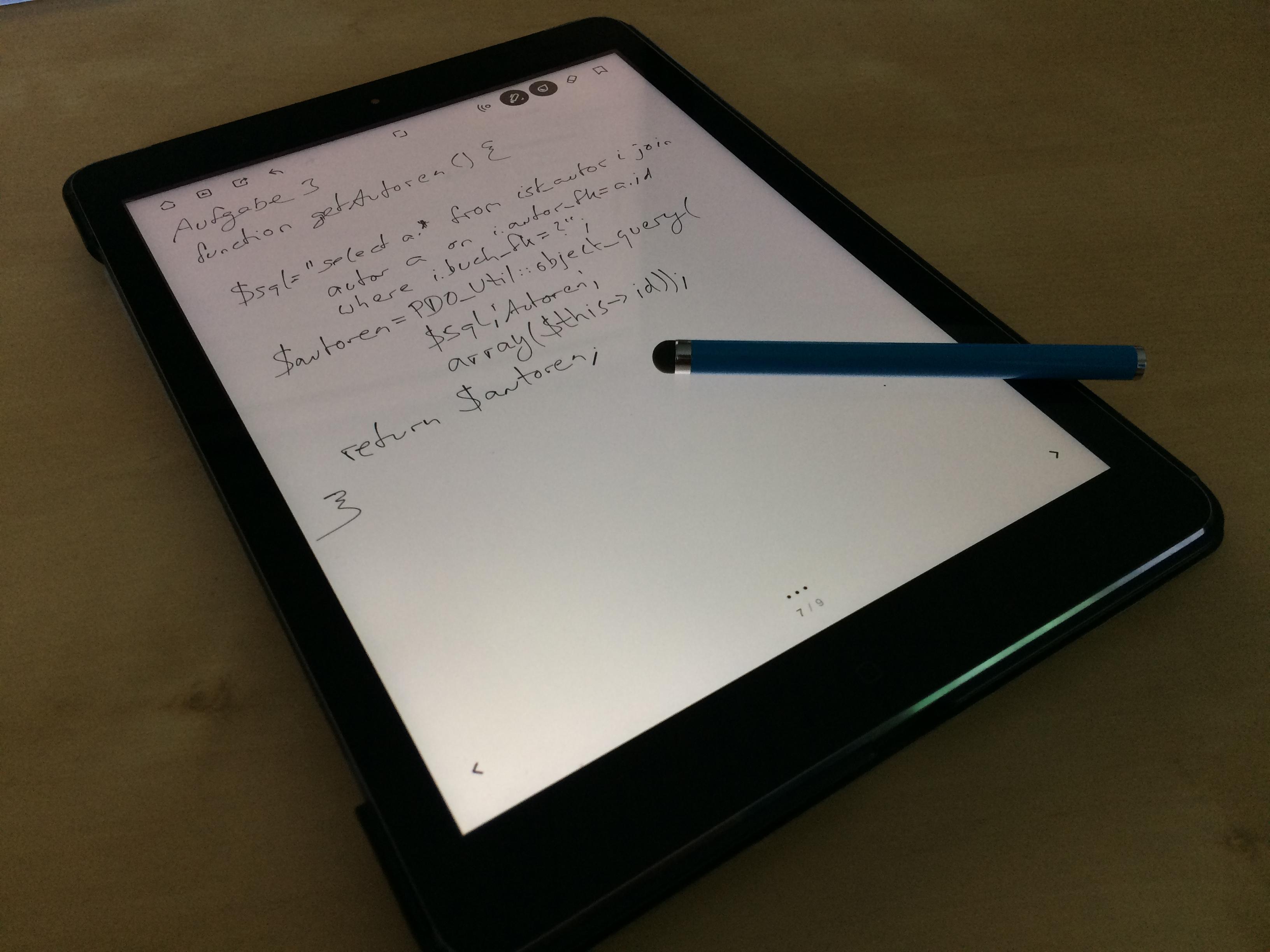 Apple iPad mit Notizen