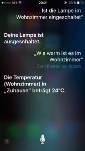 Siri Beispieldialog