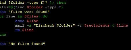 Check des Ordners über die Linux Shell