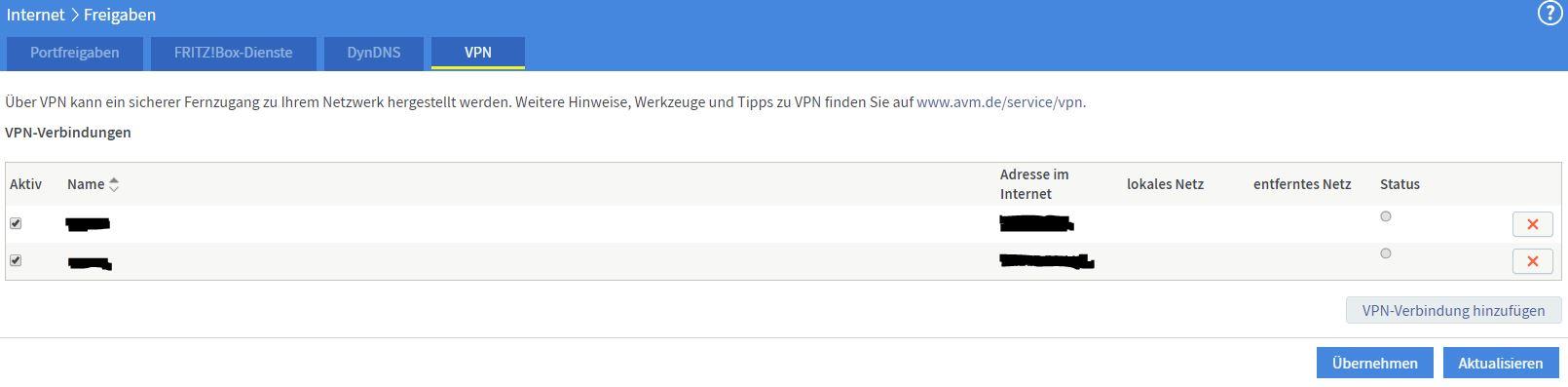 FritzBox VPN