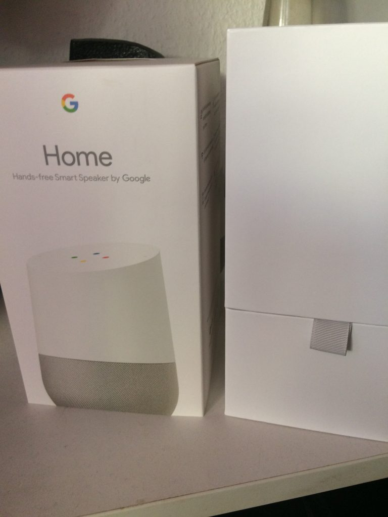 Google Home Verpackung