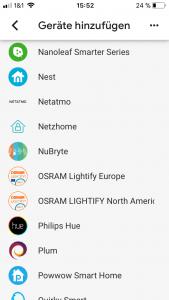Google Home App Smarthome