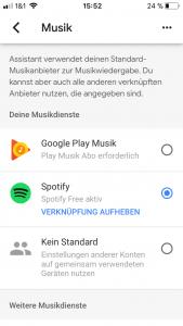 Google Home App Musik