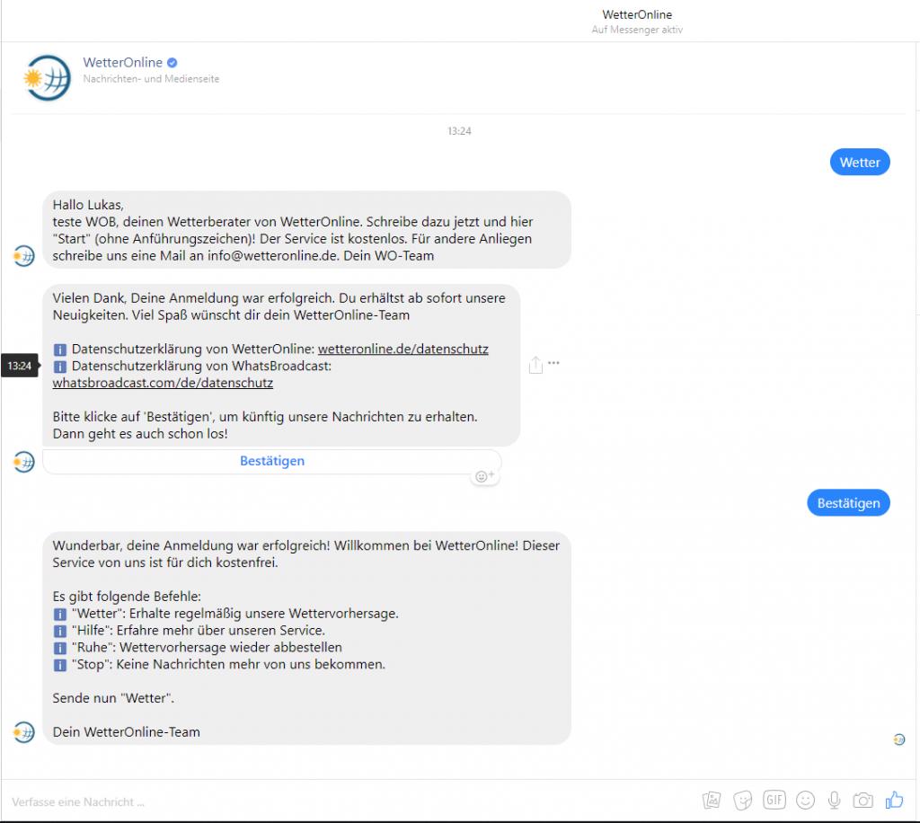 Chatbot Unterhaltung