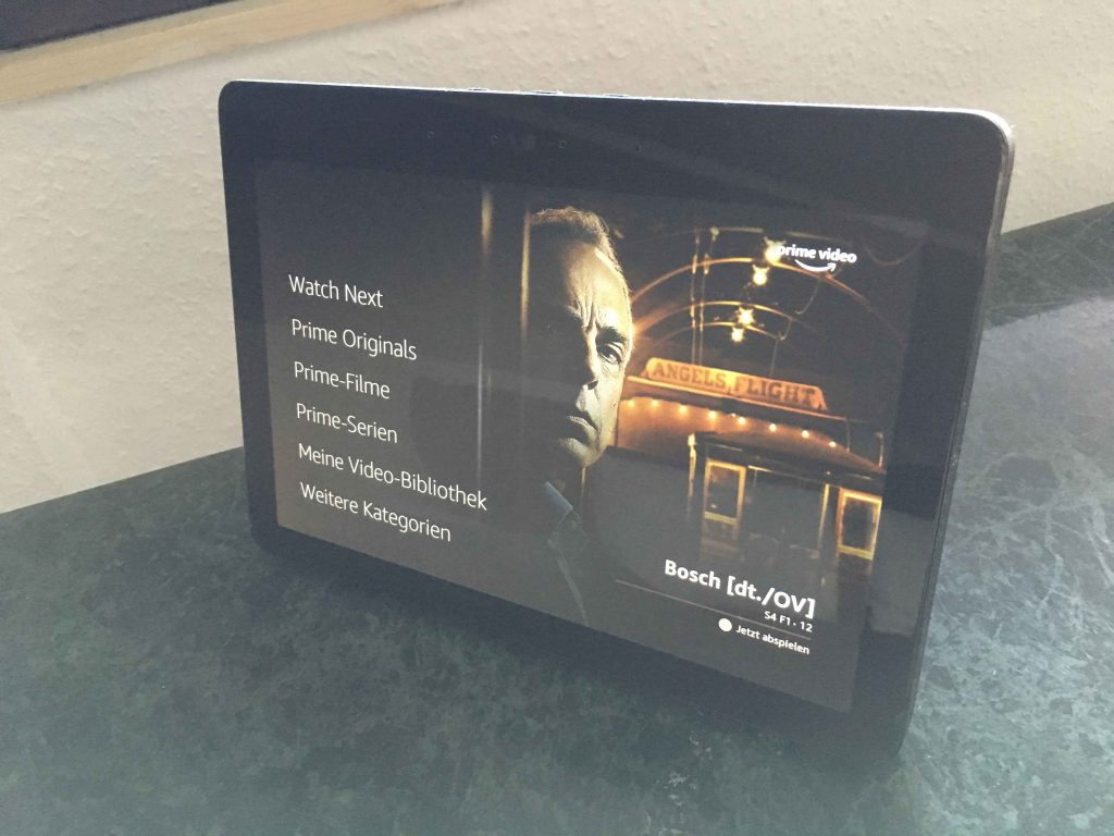 Amazon Echo Show Prime Video Bosch