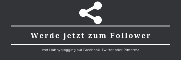 Hobbyblogging auf Facebook, Twitter und Pinterest - Follower