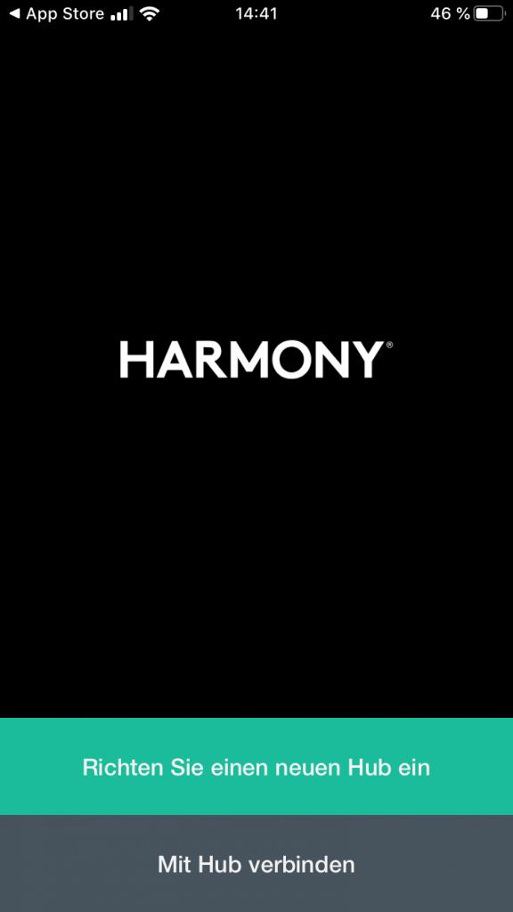 Einrichtung des Harmony Hub über das Smartphone